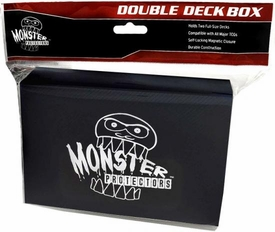 Monster Protectors Card Supplies Black Double Deck Box