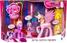 My Little Pony Playset Royal Castle Friends [Twilight Sparkle, Spike the Dragon & Princess Celestia] Damaged Package, Mint Contents!