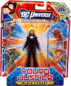 Young Justice 4 Inch Action Figure Black Canary [Includes Build a Hall of Justice Piece]