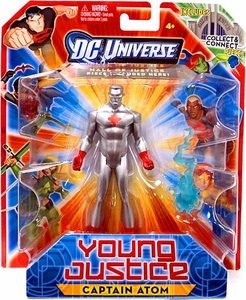 Young Justice 4 Inch Action Figure Captain Atom [Includes Build a Hall of Justice Piece]