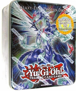 YuGiOh ZEXAL 2011 Wave 2 Collector Tin Set Galaxy-Eyes Photon Dragon [Includes: 5 Packs + Galaxy-Eyes Photon Dragon, Tyrant Neptune, Solemn Warning, Fossil Dyna & Guardian Eatos]