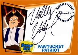 Family Guy Collectible Trading Card Autograph Pawtucket Patriot - Wally Wingert