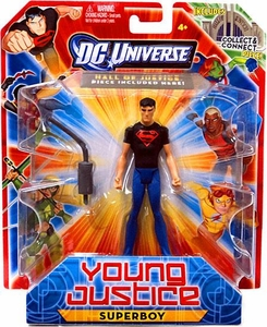 Young Justice 4 Inch Action Figure Superboy [Includes Build a Hall of Justice Piece]