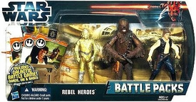 Star Wars 2012 Clone Wars Battle Pack Rebel Heroes [C-3PO, Chewbacca & Han Solo]