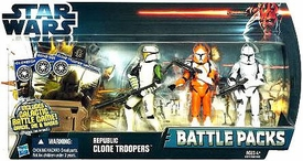 Star Wars 2012 Clone Wars Battle Pack Republic Clone Troopers [Hardcase, Cut Up & Bomb Trooper]