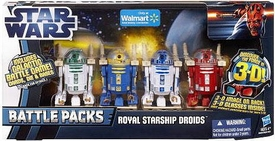 Star Wars 2012 Clone Wars Exclusive Battle Pack Royal Starship Droids [R2-R9, R2-N3, R2-B1 & R2-D2]
