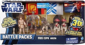Star Wars 2012 Clone Wars Exclusive Battle Pack Mos Espa Arena [C-3P0, Anakin Skywalker, Sebulba & Pit Droid]