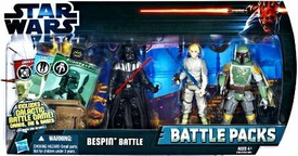 Star Wars 2012 Clone Wars Battle Pack Bespin Battle [Darth Vader, Luke Skywalker & Boba Fett]