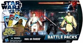 Star Wars 2012 Clone Wars Battle Pack Duel On Naboo [Qui-Gon Jinn, Obi-Wan Kenobi & Darth Maul]