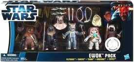Star Wars 2012 Clone Wars Exclusive Battle Pack Ewok's [Flitchee, Nanta, Teebo, Kneesaa, Tippet]