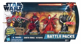 Star Wars 2012 Exclusive Battle Pack Darth Maul Returns [Darth Maul, Nightsister & Savage Opress]