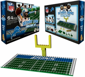 OYO Football NFL Generation 1 Team Field Endzone Set Detroit Lions
