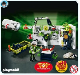 Playmobil Top Agent Set #4880 Robo Gang Lab with Ultraviolet Flashlight