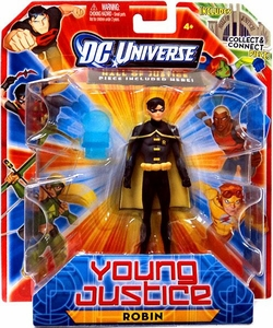 Young Justice 4 Inch Action Figure Robin [Includes Build a Hall of Justice Piece]