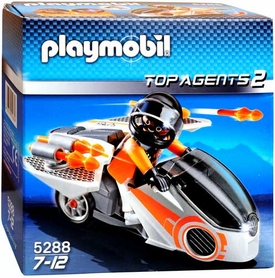 Playmobil Top Agent Set #5288 Spy Team Skybike