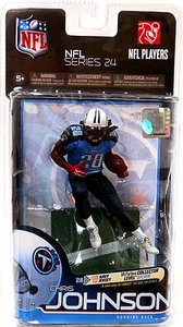 McFarlane Toys NFL Sports Picks Series 24 Action Figure Chris Johnson (Tennessee Titans) Light Blue Jersey