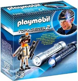 Playmobil Top Agent Set #5290 Headlight with Spy Team Agent