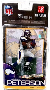 McFarlane Toys NFL Sports Picks Series 24 Action Figure Adrian Peterson (Minnesota Vikings) Purple Jersey
