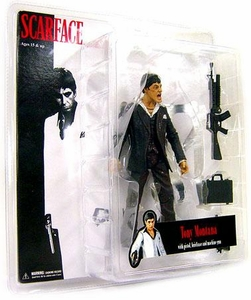 Mezco Toyz Scarface 7 Inch Realistic Exclusive Action Figure Scarface 'Blood-Splattered' [Black Suit]