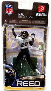 McFarlane Toys NFL Sports Picks Series 24 Action Figure Ed Reed (Baltimore Ravens) White Jersey & Black Pants
