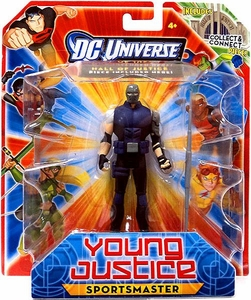 Young Justice 4 Inch Action Figure Sportsmaster [Includes Build a Hall of Justice Piece]