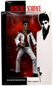 Mezco Toyz Scarface 10 Inch Stylized Action Figure Tony Montana [White Suit]