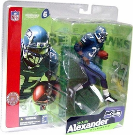 McFarlane Toys NFL Sports Picks Series 6 Action Figure Shaun Alexander (Seattle Seahawks) Blue Jersey & Blue Pants Variant