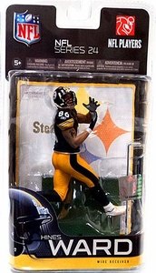 McFarlane Toys NFL Sports Picks Series 24 Action Figure Hines Ward (Pittsburgh Steelers) Black Jersey