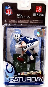 McFarlane Toys NFL Sports Picks Series 24 Action Figure Jeff Saturday (Indianapolis Colts) Blue Jersey Bronze Collector Level Chase Only 3,000 Made!