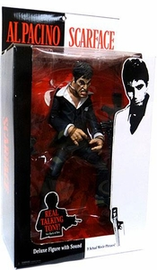 Mezco Toyz Scarface Deluxe 10 Inch Talking Stylized Action Figure Tony Montana [Black Suit] BLOWOUT SALE!