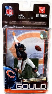 McFarlane Toys NFL Sports Picks Series 24 Action Figure Robbie Gould (Chicago Bears)  Dark Blue Jersey Bronze Collector Level Chase Only 2,500 Made!