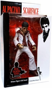 Mezco Toyz Deluxe 10 Inch Talking Stylized Action Figure Scarface in White Suit [Al Pacino]