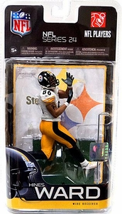 McFarlane Toys NFL Sports Picks Series 24 Action Figure Hines Ward (Pittsburgh Steelers) White Jersey Variant