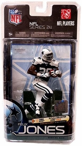 McFarlane Toys NFL Sports Picks Series 24 Action Figure Felix Jones (Dallas Cowboys) Thanksgiving Uniform Gold Collector Level Chase Only 500 Made!