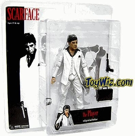 Mezco Toyz Scarface 7 Inch Realistic Action Figure Scarface 'The Player' [White Suit & Black Shirt] BLOWOUT SALE!