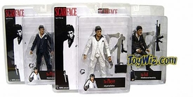 Mezco Toyz Scarface Set of 3 Scarface 7 Inch Realistic Action Figures