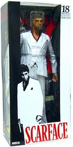 NECA Scarface 18 Inch Talking Action Figure Al Pacino as Tony Montana [White Suit]