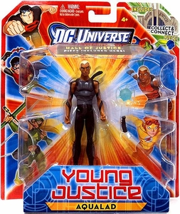 Young Justice 4 Inch Action Figure Stealth Aqualad {Gray Outfit} [Includes Build a Hall of Justice Piece]