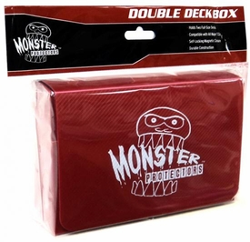 Monster Protectors Card Supplies Red Double Deck Box