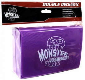 Monster Protectors Card Supplies Purple Double Deck Box