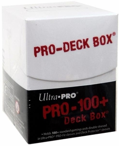 Ultra Pro Card Supplies Pro-Deck 100 Count Deck Box White