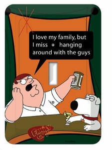 Family Guy Light Switch Plate #1 with Peter & Brian