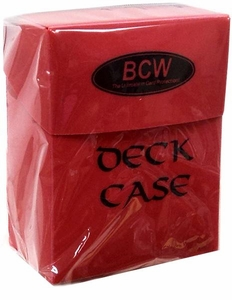 BCW Card Supplies 75 Count Deck Box Red