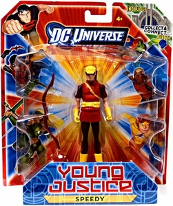 Young Justice 4 Inch Action Figure Speedy [Includes Build a Hall of Justice Piece]