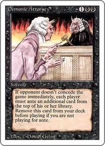 Magic the Gathering Revised Edition Single Card Rare Demonic Attorney