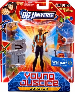 Young Justice Exclusive 4 Inch Action Figure Aqualad {No Shirt, Blue Paint On Upper Body}