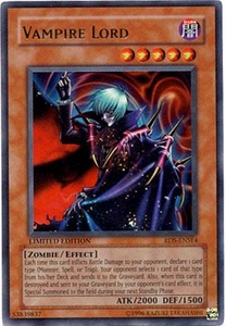 YuGiOh Rise of Destiny Special Edition Promo Single Card Ultra Rare RDS-ENSE4 Vampire Lord