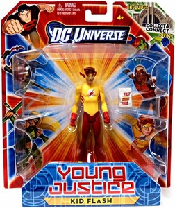 Young Justice 4 Inch Action Figure Kid Flash {Yellow Shirt & Red Pants} [Includes Build a Hall of Justice Piece]