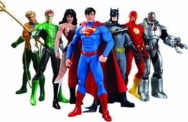 DC Collectibles Justice League New 52 Action Figure 7-Pack [Batman, Green Lantern, Aquaman, Flash, Cyborg, Superman, & Wonder Woman] New!