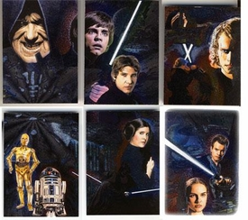 Topps Star Wars Galaxy Series 4 Etched Foil Set